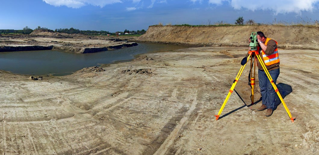 land surveys topographical on site